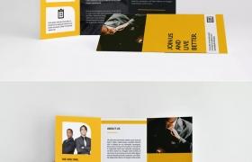 黄黑色 企业三折页设计欣赏